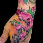Tatuaje a color maquina de tatuar weirdo. Abbyss Zaragoza