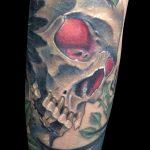 Tatuaje calavera. Abbyss Zaragoza