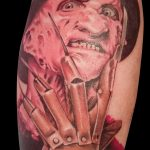 Tatuaje realista a color. Freddy Kruger. Abbyss Zaragoza